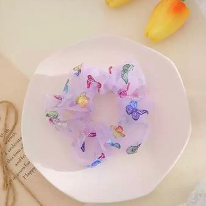 Vibrant and Beautiful Butterfly Scrunchie